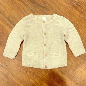 Grey seed stitch knit cardigan